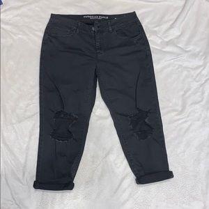 American Eagle destroyed boyfriend jeans